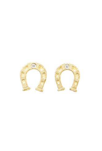 Victoria Cunningham 14K Gold Horseshoe Earrings