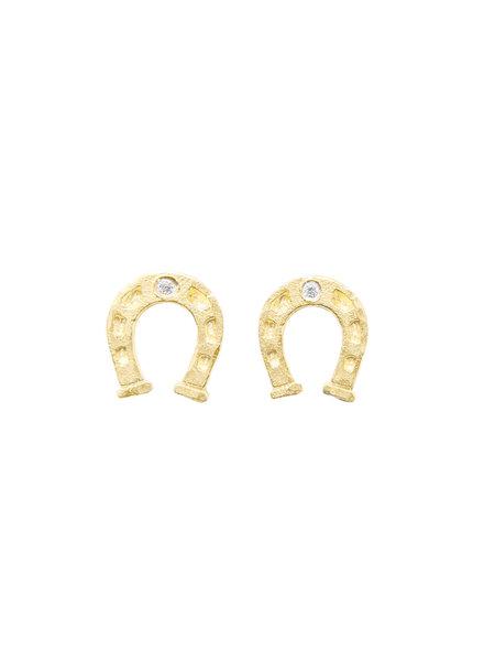 Victoria Cunningham 14K Gold Horseshoe Earrings
