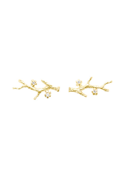 Victoria Cunningham 14K Gold Branch Earrings