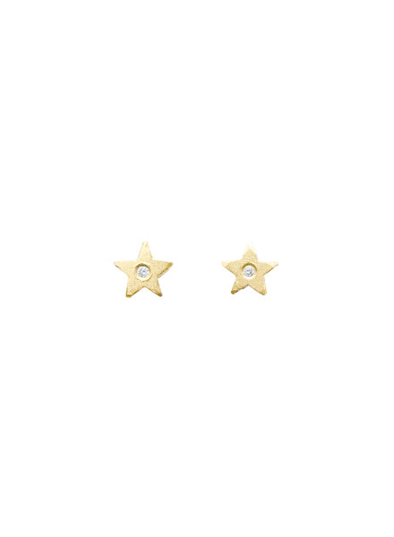 Victoria Cunningham 14K Gold Star Earrings