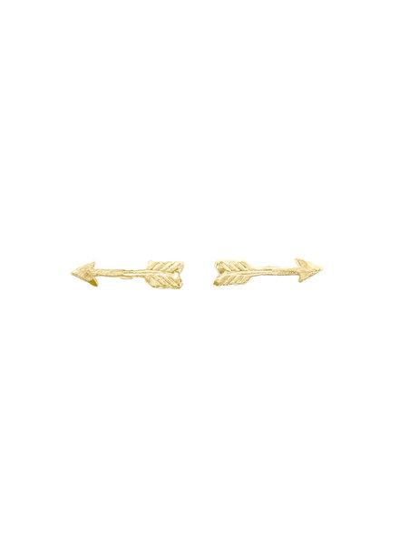 Victoria Cunningham 14K Gold Arrow Earrings