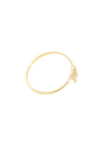 Victoria Cunningham 14K Gold Owl Ring