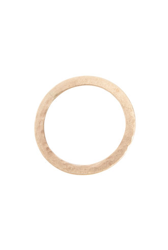 Rebecca Lankford 14k Thin Flat Textured Ring