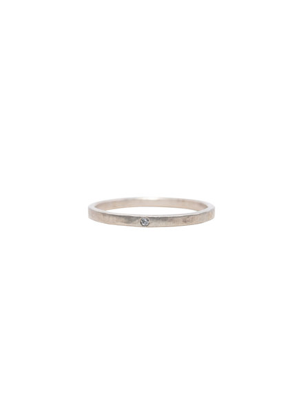 Rebecca Lankford White Gold Diamond Midi Ring