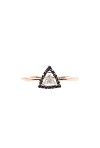 KISMET Framed Diamond Triangle Ring
