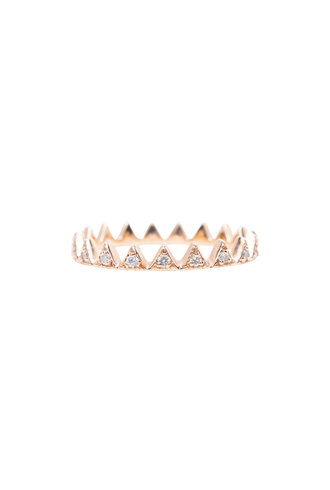 KISMET by Milka White Diamond Crown Ring