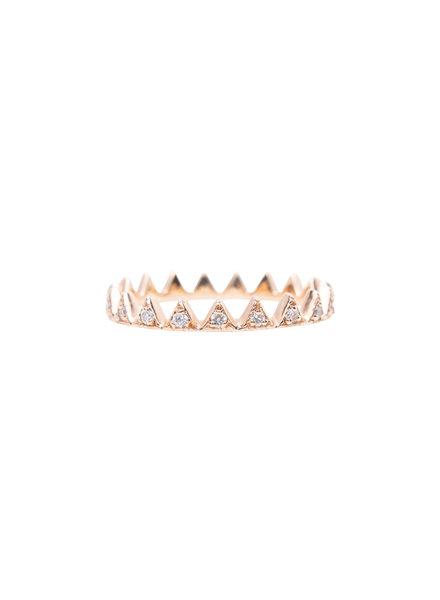 KISMET by Milka White Diamond Crown Ring