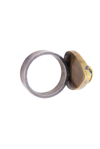 Beth Orduna Design Turquoise Teardrop Ring