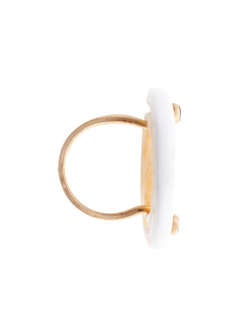 Renee Garvey Kwalia and 14k Gold Nail Head Ring