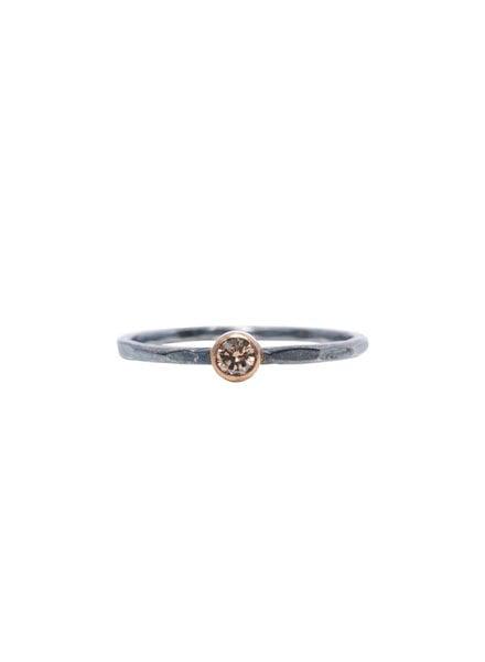 Sarah McGuire Two-Tone Champagne Diamond Ring
