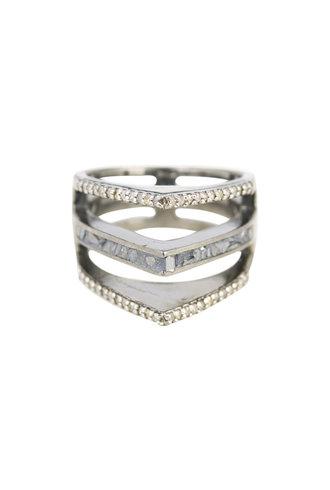 Shana Gulati Himara Ring Silver Clear