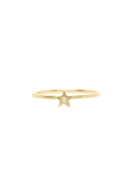 Victoria Cunningham 14K Gold Diamond Star Ring