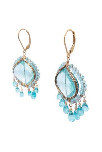 Dana Kellin Fashion Aqua Quartz Apatite Earrings