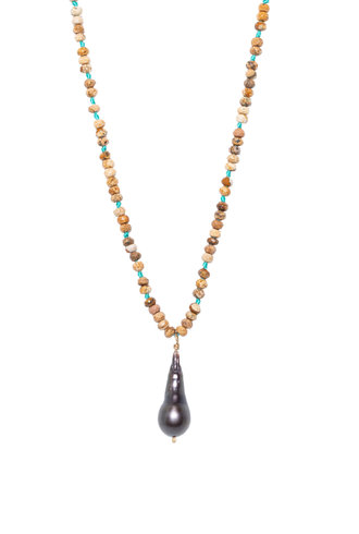 Renee Garvey Jasper and Tahitian Pearl Necklace
