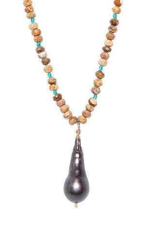 Renee Garvey Jasper and Tahitian Pearl Necklace