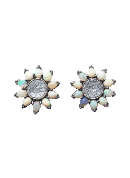 Shana Gulati Cuvier Stud Earrings Silver
