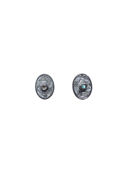 Shana Gulati Sofia Stud Earrings Silver