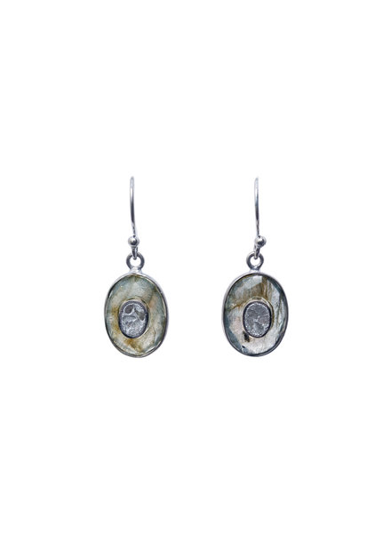 Shana Gulati Kos Drop Earrings Silver