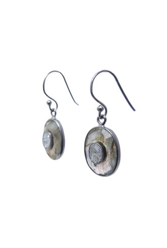 Shana Gulati Kos Drop Earrings Silver