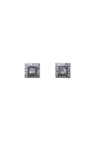 Shana Gulati Nero Stud Earrings Silver
