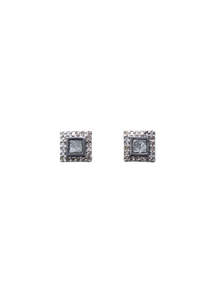 Shana Gulati Nero Stud Earrings Silver