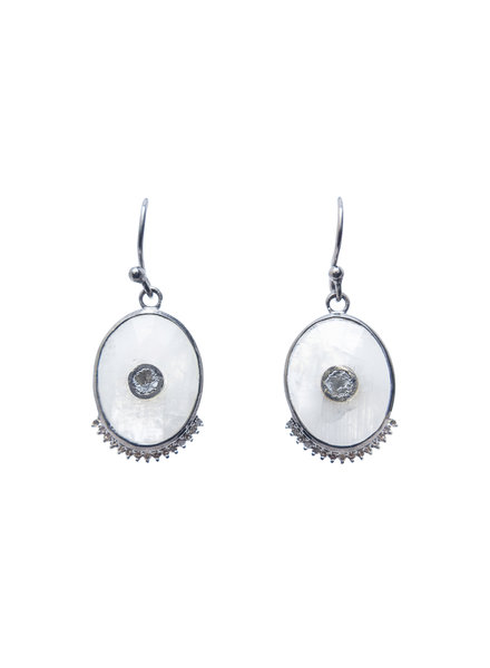 Shana Gulati Vidos Drop Earrings Silver