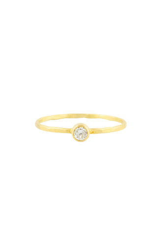 Sarah McGuire Gold Diamond Featherweight Ring