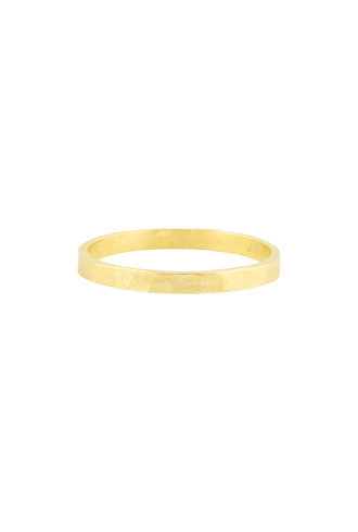 Sarah McGuire Thin Yellow Gold Parchment Band