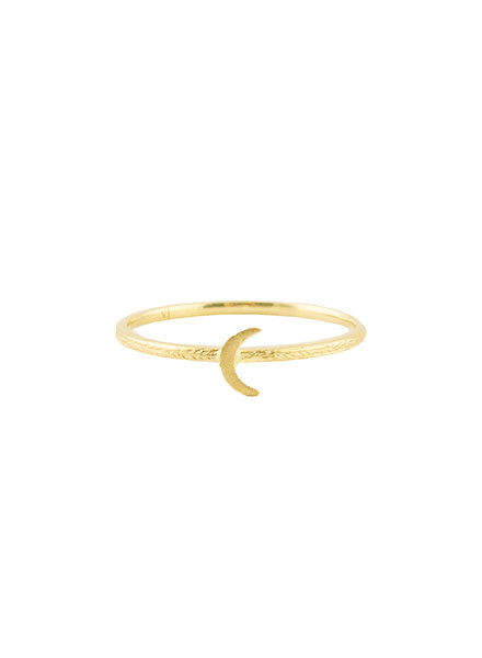 Victoria Cunningham 14k Gold Moon Ring