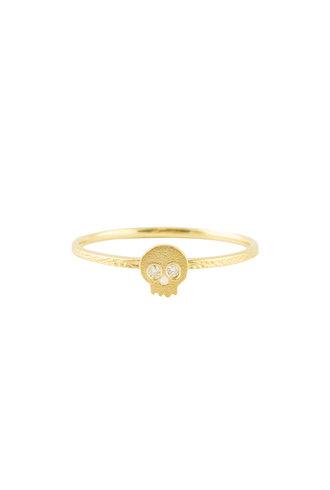 Victoria Cunningham 14k Diamond Skull Ring