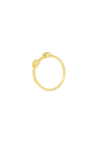 Sarah McGuire Double Nugget 18K Gold Ring