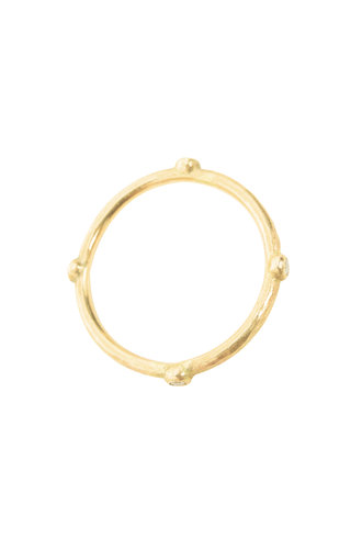 Rebecca Lankford Gold Bezel Diamond Ring