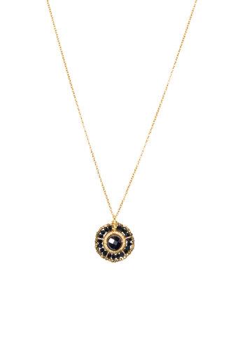 Dana Kellin Fashion Jet Circle Necklace