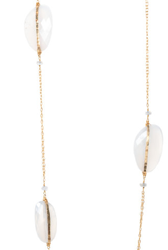 Dana Kellin Fine 14k White Chalcedony Saloni Moonstone Necklace