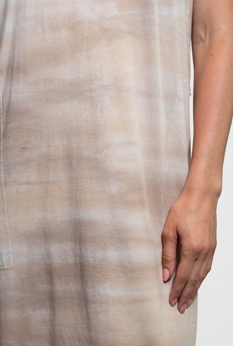 Raquel Allegra Caftan Maxi Dress Sand Tie Dye