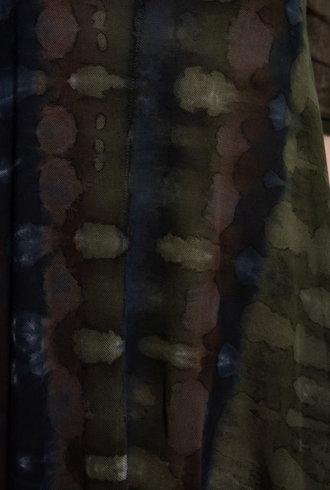 Raquel Allegra Mesh Drama Maxi Forest Camo Tie Dye
