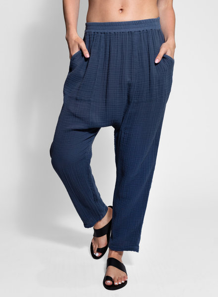 Raquel Allegra Sunday Pant Dusty Blue