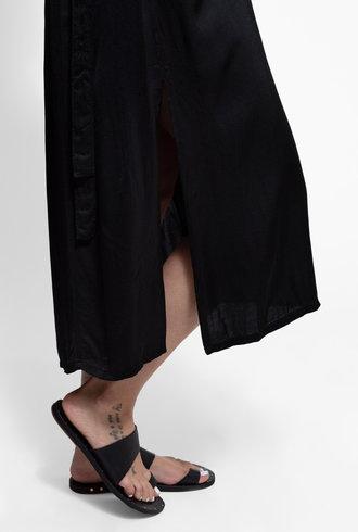 Raquel Allegra Gather Sleeve Dress Black