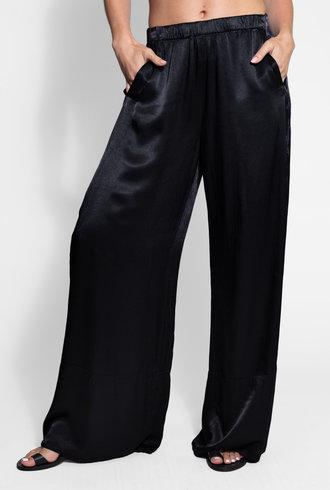 Raquel Allegra Wide Hem Pant Black Tie Dye