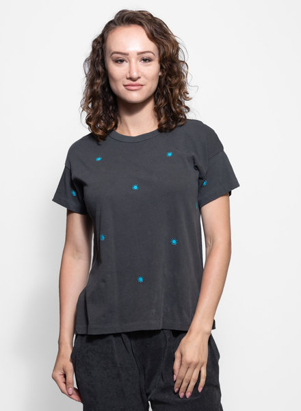 The Great Boxy Crew Washed Black Wishweed Embroidery