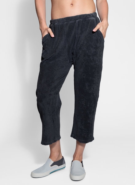 The Great Micro Terry Pajama Sweatpant Washed Black