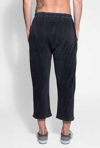 The Great The Micro Terry Pajama Sweatpant Washed Black