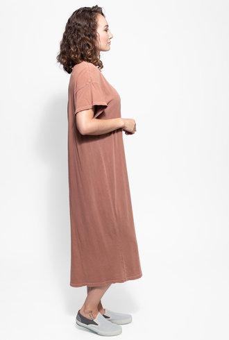 The Great The Button Side Dress Rust