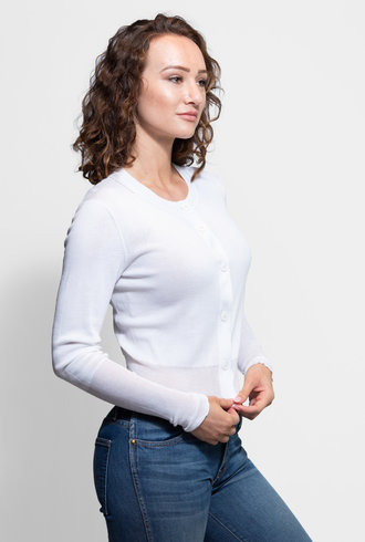 Inhabit Cotton Cardi White
