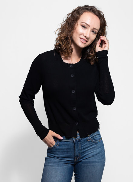 Inhabit Cotton Cardi Black