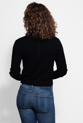 Inhabit Cotton Cardi Black