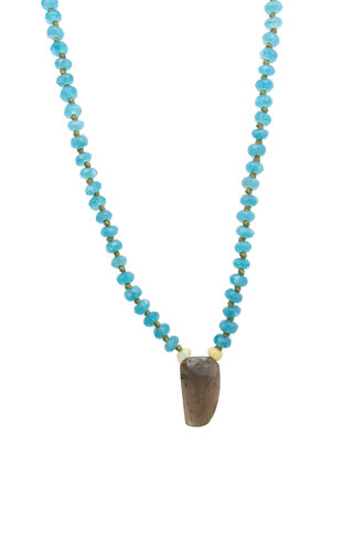 Renee Garvey Sea Agate, Opal, Tourmaline, and 14K Gold Necklace