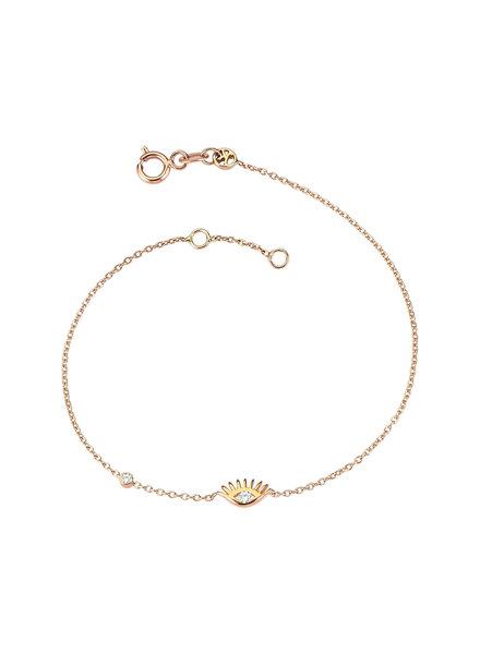 KISMET by Milka Evil Eye Solitaire Bracelet