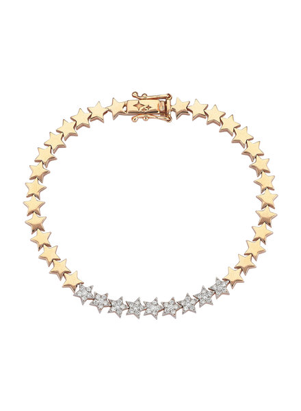 KISMET by Milka Star White Diamond Rose Gold Bracelet