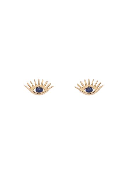 KISMET by Milka Evil Eye Sapphire Studs
